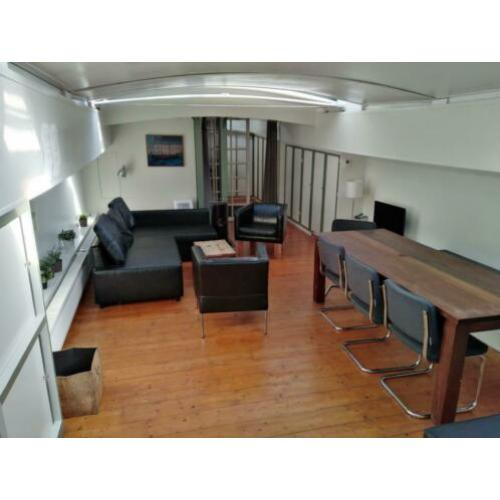 furnished houseboat NDSM werf amsterdam